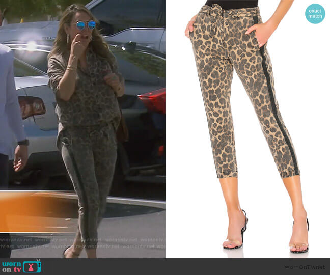 Leopard Pant with Sash by Pam & Gela worn by Kelly Dodd  on The Real Housewives of Orange County