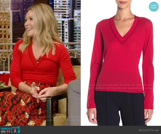 Pamela Merino Wool Sweater by Rag & Bone worn by Kelly Ripa  on Live with Kelly & Ryan