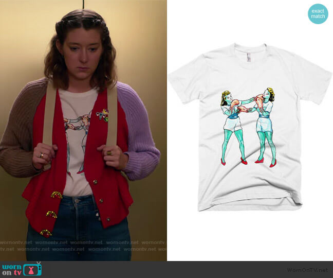 Alien Battle Tee by Penelope Gazin worn by Nonnie Thompson (Kimmy Shields) on Insatiable