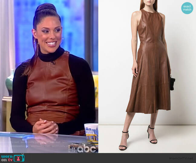 Fit and Flare Midi Dress by Ralph Lauren worn by Abby Huntsman  on The View