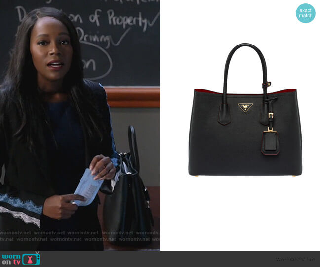 Double Bag Large by Prada worn by Michaela Pratt (Aja Naomi King) on HTGAWM