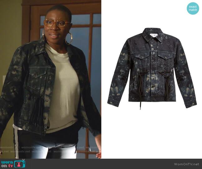 Tie-Dye Panelled Denim Jacket by Proenza Schouler PSWL worn by Henrietta Wilson (Aisha Hinds) on 9-1-1