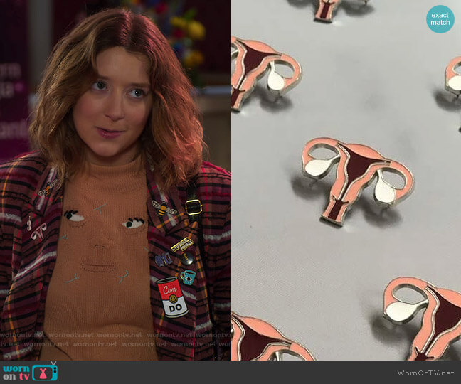 The Parts Pin by Rachel Antonoff worn by Nonnie Thompson (Kimmy Shields) on Insatiable