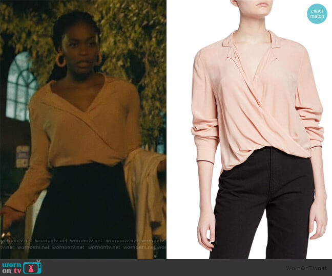 Dean Cross-Front Long-Sleeve Top by Rag & Bone worn by Anissa Pierce (Nafessa Williams) on Black Lightning