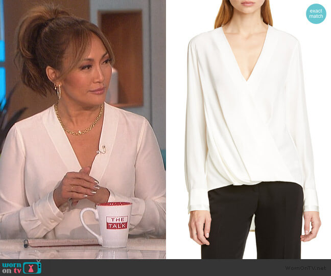 Victor Blouse by Rag and Bone worn by Carrie Inaba  on The Talk