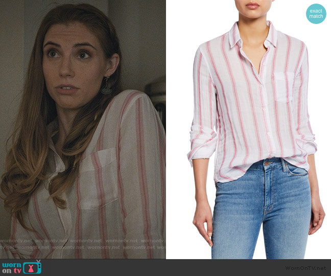 Reagan Tulip Stripe Button-Down Shirt by Rails worn by Stephanie 'Stevie' McCord (Wallis Currie-Wood) on Madam Secretary