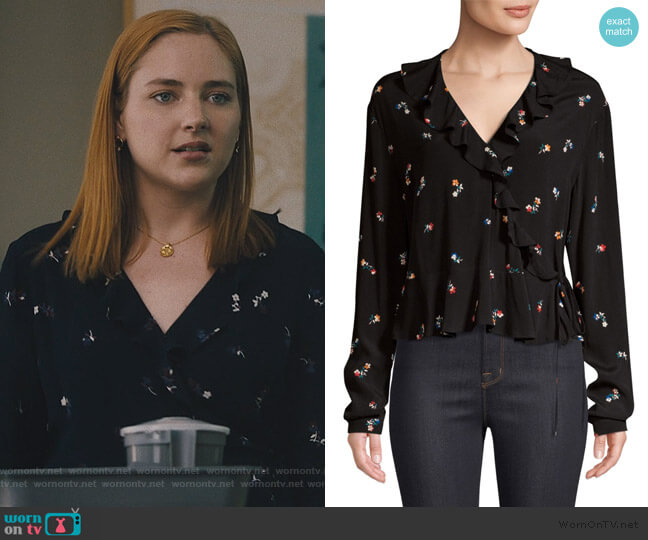 Simone Floral Wrap Blouse by Rails worn by Violet Simmons (Haley Ramm) on Light as a Feather