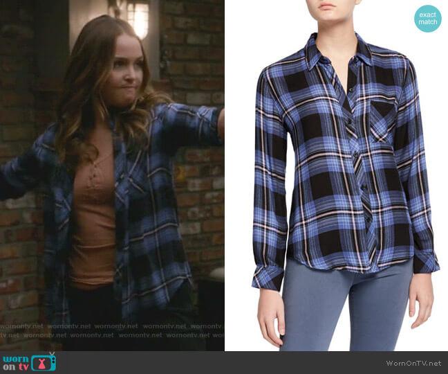 Hunter Button Down Shirt by Rails worn by Jo Wilson (Camilla Luddington) on Greys Anatomy