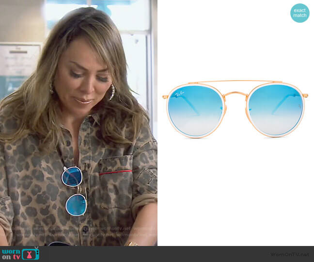 Round Double Bridge by Ray-Ban worn by Kelly Dodd  on The Real Housewives of Orange County