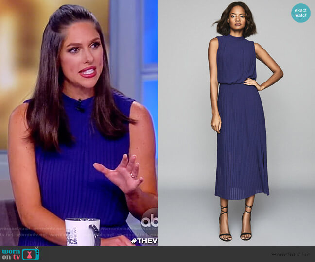 Ray Pleated Dress by Reiss worn by Abby Huntsman  on The View