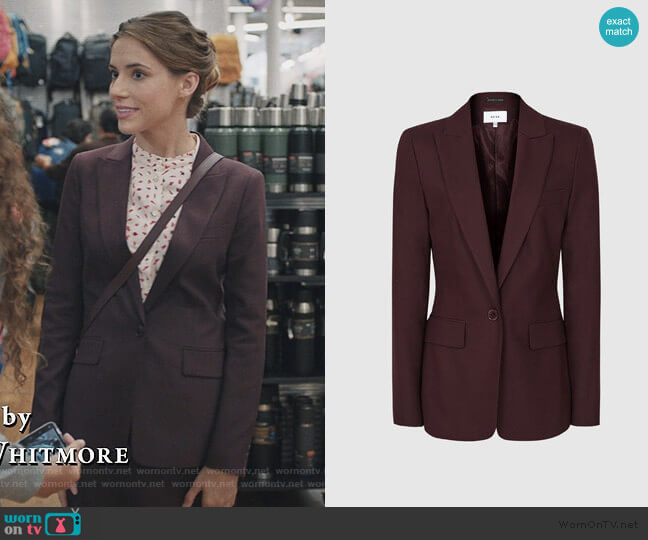 Lissia Jacket by Reiss worn by Stephanie 'Stevie' McCord (Wallis Currie-Wood) on Madam Secretary