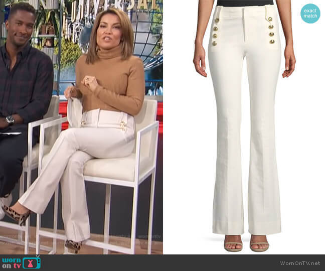 Robertson Flare Pants by Derek Lam 10 Crosby worn by Kit Hoover  on Access Hollywood