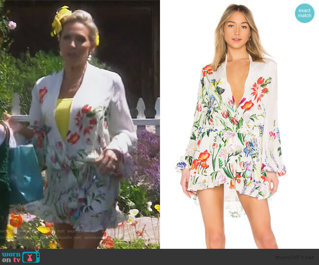 Bloom Mini Dress by Rococo Sand worn by Braunwyn Windham-Burke  on The Real Housewives of Orange County