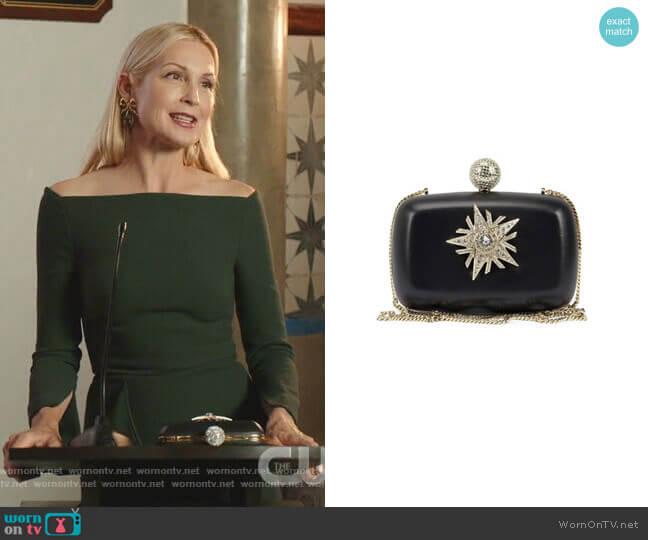 Boite De Nuit Star Clutch Bag by Roger Vivier worn by Melissa Daniels (Kelly Rutherford) on Dynasty