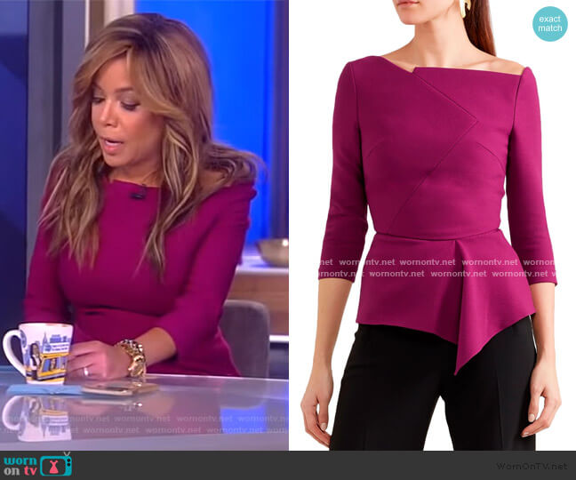 Almeley top by Roland Mouret worn by Sunny Hostin  on The View