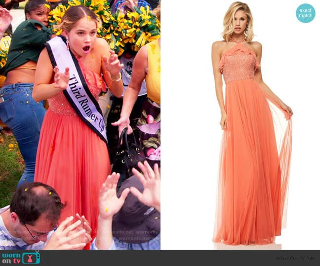 Halter A-Line Dress by Sherri Hill worn by Patty Bladell (Debby Ryan) on Insatiable