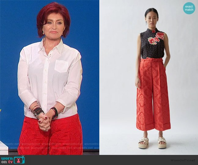 Wide Tailored Trouser's by Simone Rocha worn by Sharon Osbourne  on The Talk