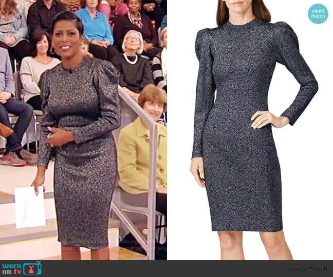 Amelie Metallic Knit Dress by Sachin & Babi worn by Tamron Hall  on Tamron Hall Show