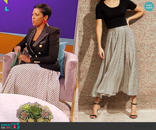 Annie Skirt by Sachin & Babi worn by Tamron Hall  on Tamron Hall Show