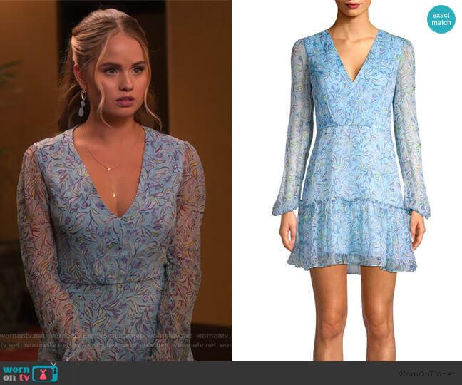Devon Silk Mini Dress by Saloni worn by Patty Bladell (Debby Ryan) on Insatiable