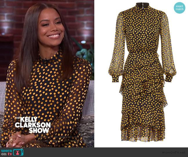 Isa Ruffle Dress by Saloni worn by Antoinette Clarke on The Kelly Clarkson Show