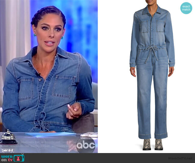 Scoop Denim Jumpsuit Medium Wash by Scoop worn by Abby Huntsman  on The View