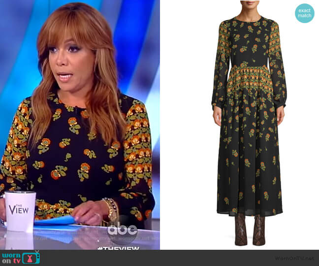 Scoop Blouson Sleeve Maxi Dress by Scoop at Wallmart worn by Sunny Hostin  on The View