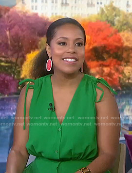 Sheinelle's pink drop earrings on Today