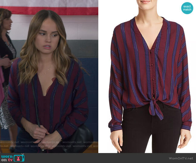 Sloane Top in Janeiro Stripe by Rails worn by Patty Bladell (Debby Ryan) on Insatiable