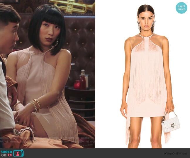 Fringe Mini Dress by Stella McCartney worn by Mei Lin (Poppy Liu) on Sunnyside