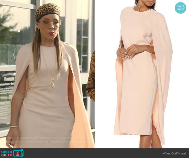 Cape Midi Dress by Stella McCartney worn by Dominique Deveraux (Michael Michele) on Dynasty