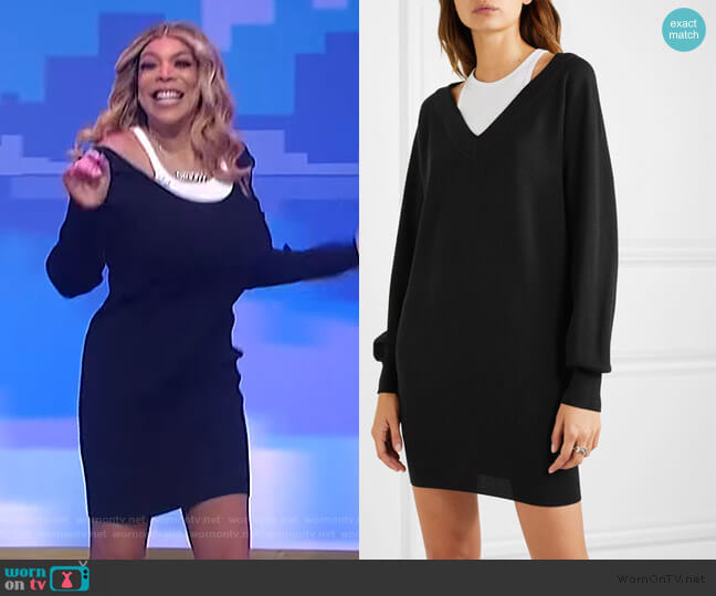 Bi-layer Sweater Dress by T by Alexander Wang worn by Wendy Williams  on The Wendy Williams Show