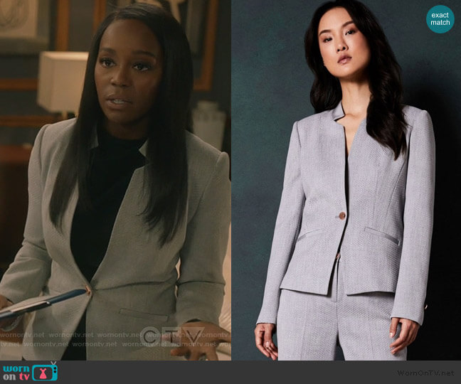 Daizi Blazer by Ted Baker worn by Michaela Pratt (Aja Naomi King) on HTGAWM
