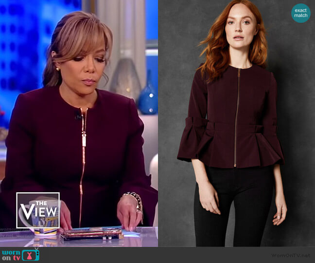 Maggi Jacket by Ted Baker worn by Sunny Hostin  on The View