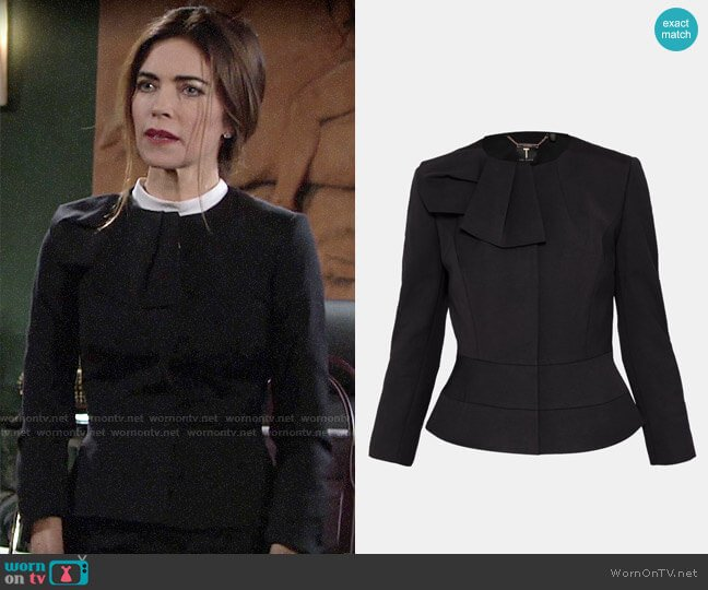 Ted Baker Rayal Jacket worn by Victoria Newman (Amelia Heinle) on The Young & the Restless