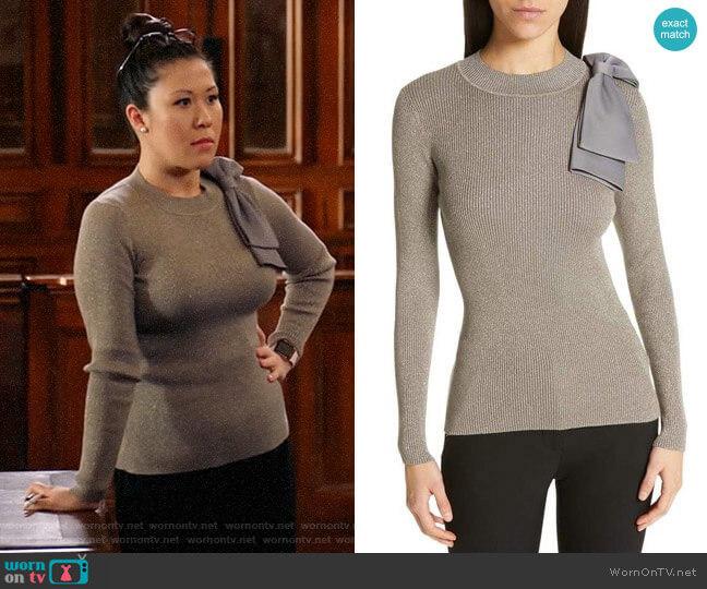 Ted Baker Saaydie Sweater worn by Sherri Kansky (Ruthie Ann Miles) on All Rise