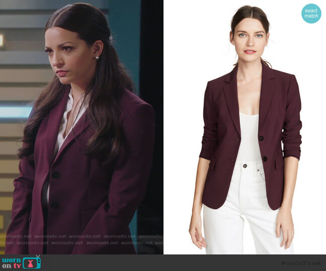 Carissa Blazer by Theory worn by Diana Barea (Ana Villafane) on Sunnyside
