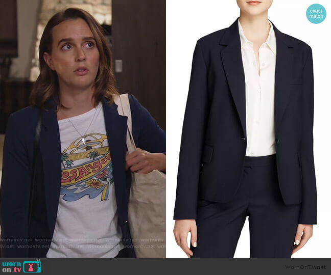 Gabe Blazer by Theory worn by Angie (Leighton Meester) on Single Parents