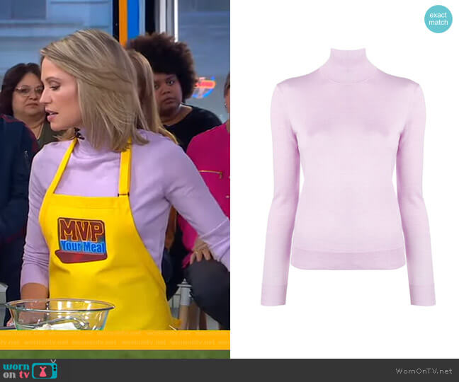 Foundation Turtleneck Sweater by Theory worn by Amy Robach  on Good Morning America