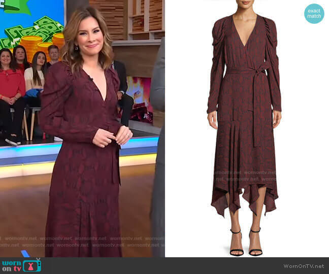 Tianna Dress by A.L.C. worn by Rebecca Jarvis  on Good Morning America
