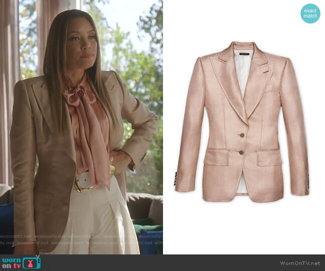 Viscose Jacket by Tom Ford worn by Dominique Deveraux (Michael Michele) on Dynasty