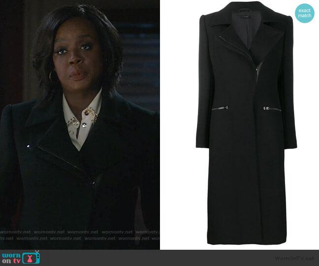 Zip-up Long Coat by Tom Ford worn by Annalise Keating (Viola Davis) on HTGAWM