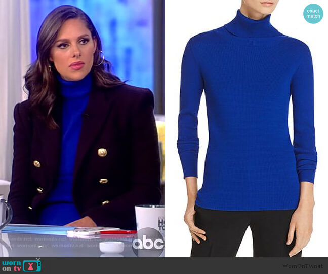 Ribbed Turtleneck Sweater by Tory Burch worn by Abby Huntsman  on The View