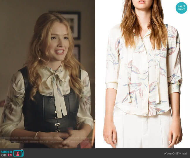 Touch Paradise Tunic by Zadig & Voltaire worn by Kirby Anders (Maddison Brown) on Dynasty
