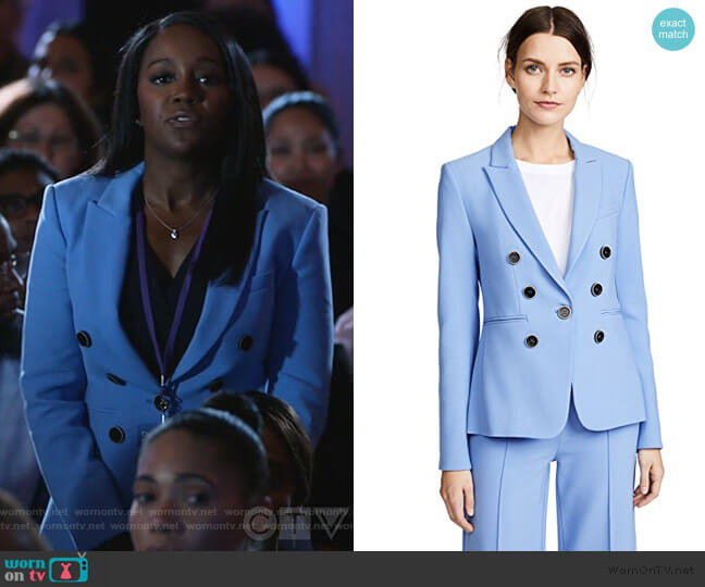 Colson Blazer by Veronica Beard worn by Michaela Pratt (Aja Naomi King) on HTGAWM
