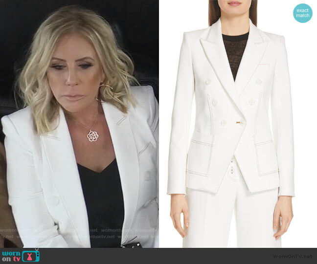 Cosmo Dickey Jacket by Veronica Beard worn by Vicki Gunvalson  on The Real Housewives of Orange County
