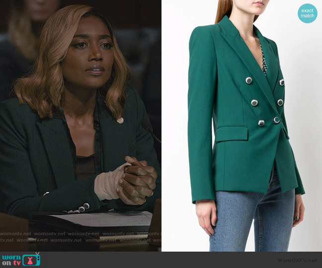 Miller Double Breasted Blazer by Veronica Beard worn by Daisy Grant (Patina Miller) on Madam Secretary