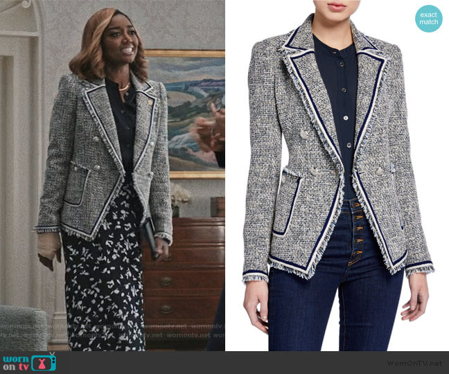 Theron Tweed Jacket by Veronica Beard worn by Daisy Grant (Patina Miller) on Madam Secretary