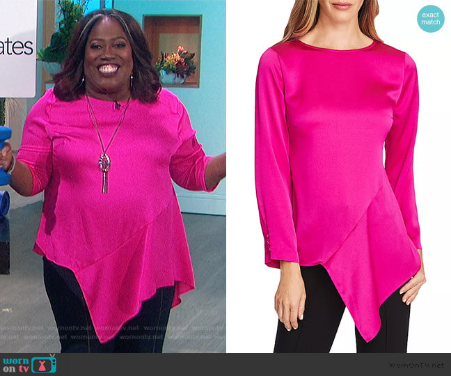 Hammered Satin Blouse by Vince Camuto worn by Sheryl Underwood  on The Talk