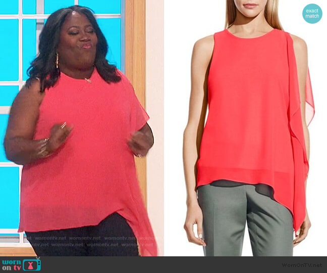 Asymmetric Sleeveless Top by Vince Camuto worn by Sheryl Underwood  on The Talk